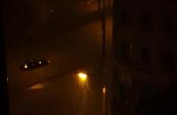 Nocna nawałnica na Wzgórzu w Gdyni