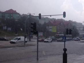 Ulewa przeszła nad Gdynią