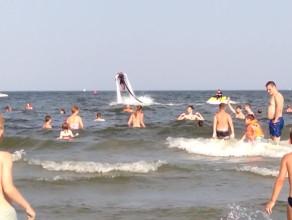 Water Jet Pack na plaży w Gdyni