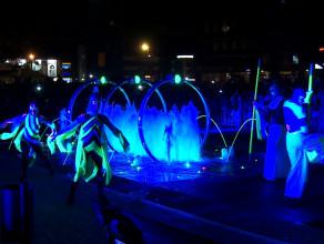 Oficjalne uruchomienie fontanny na pl. Jana Heweliusza