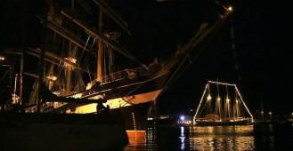 Operacja Żagle Gdyni nocą