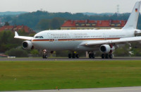 Potężny Airbus na lotnisku w Rębiechowie