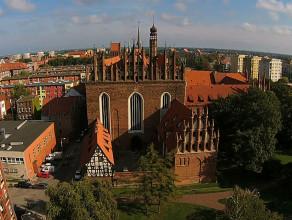 Kościół Św. Trójcy widziany z drona