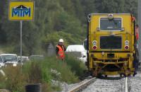 Budowa linii na Morenę prawie na półmetku