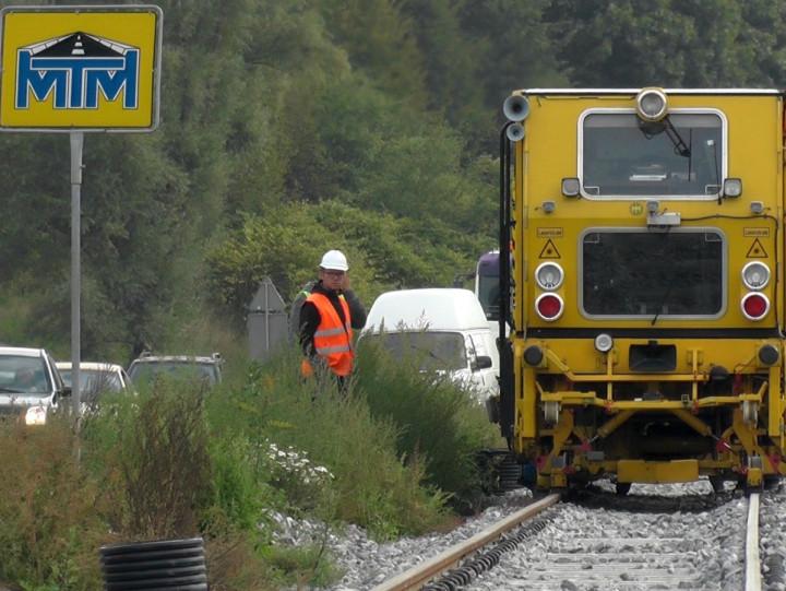Tak prace na budowie linii wyglądały jeszcze przed półmetkiem - pod koniec września tego roku.