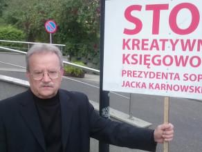 Protest Ryszarda Kajkowskiego, kandydata na radnego Sopotu