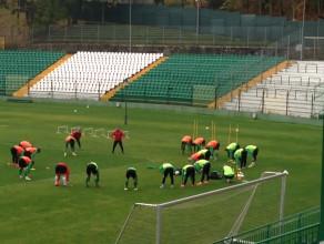 Trening piłkarzy Lechii Gdańsk przed meczem ze Śląskiem Wrocław