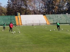 Trening bramkarzy Lechii Gdańsk