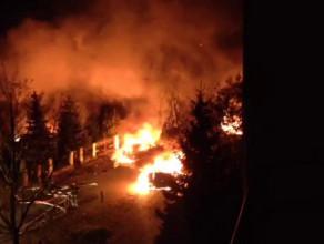 Płonące samochody na Morenie