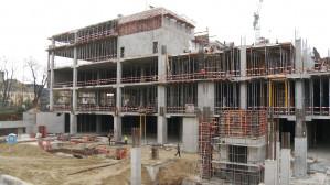 Postępy prac na budowie Galerii Metropolia
