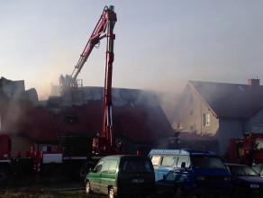 Pożar przy ul. Wodnika w Gdańsku Osowie