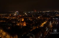 Przelot nad Gdańskiem nocą