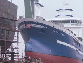 Wodowanie jednostki B 692 m/v KVANNOY