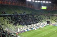Transparent kibiców Lechii podczas meczu z Piastem