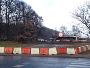 Plac postojowy dla autobusów przy ul. Giełguda