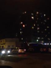 Pożar mieszkania w Chyloni