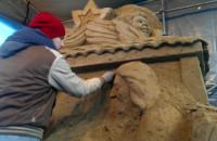 Oliwska szopka z piasku prawie gotowa