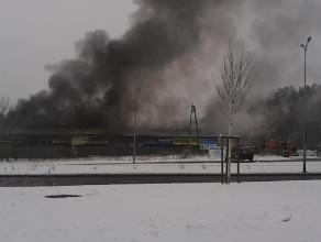 Pali się warsztat samochodowy