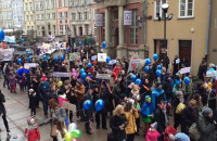 Protest przeciwko likwidacji Pałacu Młodzieży