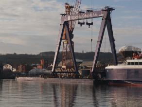 Suwnica bramowa już w Remontowa Shipbuilding