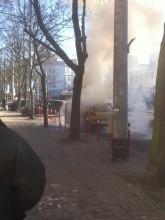 Pożar samochodu w centrum Gdyni