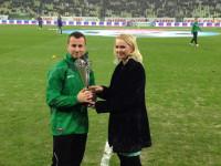 Piotr Wiśniewski nagrodzony za zwycięstwo w plebiscycie na Najlepszego Ligowca 2014 roku w Trójmieśc