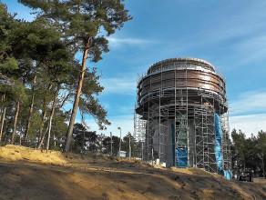 Panorama z nowej wieży ciśnień na Wyspie Sobieszewskiej