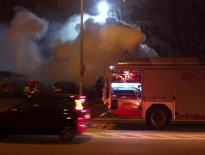 Pożar samochodów we Wrzeszczu