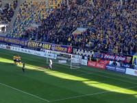 Gol Marcusa w meczu Arka Gdynia - GKS Tychy