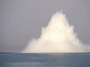 Detonacja miny na Zatoce Gdańskiej