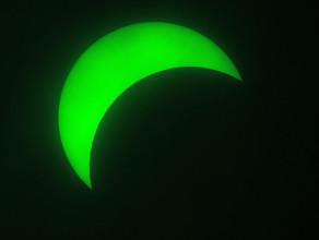 Zaćmienie Słońca widziane z obserwatorium astronomicznego