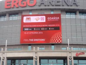 Zegar na Ergo Arenie zaczął odmierzać czas do Euro 2016 w piłce ręcznej