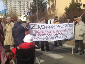 Sobotni protest na ul. Chwarznieńskiej