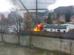 Pożar zakładów lakierniczych we Wrzeszczu