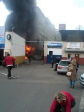 Pożar we Wrzeszczu ul. Do studzienki