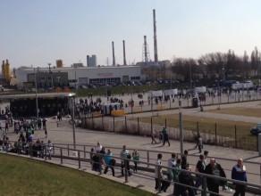 Tłumy kibiców przed Lechia - Legia