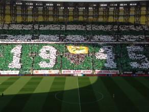 Kartoniada na meczu Lechia - Legia