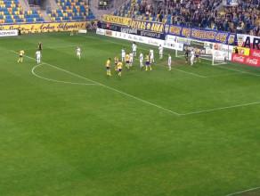 Zwycięski gol Arki Gdynia w meczu z Flotą Świnoujście 1:0