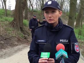 Oględziny miejsca morderstwa w Brzeźnie