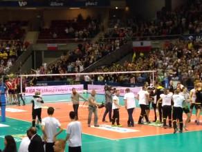 Radość siatkarzy Lotosu Trefla po wygraniu Pucharu Polski