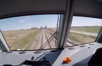 Przejazd testowym pociągiem między Rębiechowem a lotniskiem