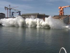 Wodowanie arktycznego statku