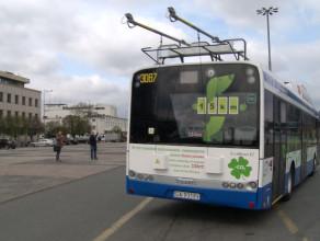 Trolejbusy bez szelek na Skwerze Kościuszki