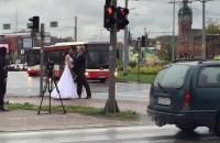 Nietypowa sesja ślubna pod Zieleniakiem