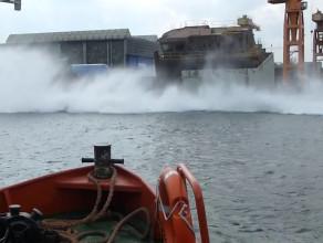 Wodowanie boczne Remontowa Shipbuilding 30.04.2015