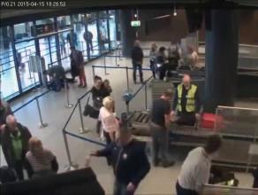 Interwencja służb lotniskowych wobec pijanego pasażera