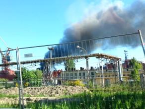 Płonie Stocznia MW