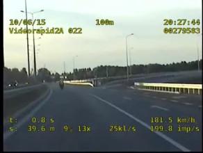 181 km/h w terenie zabudowanym - motocyklista pożegnał się z prawem jazdy