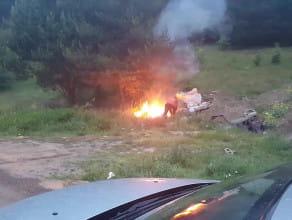 Gaszenie pożaru w Szadółkach