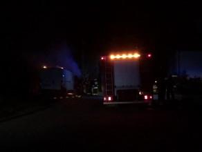 W Osowie spłonął samochód dostawczy